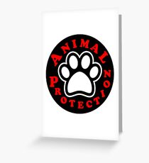 animal protection coat Greeting Card