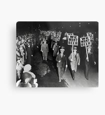 We Want Beer! Prohibition Protest, 1931 Metal Print