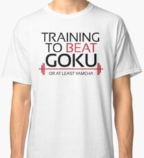 Training to beat Goku - Yamcha - Black Letters Classic T-Shirt
