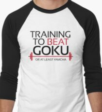 Training to beat Goku - Yamcha - Black Letters T-Shirt