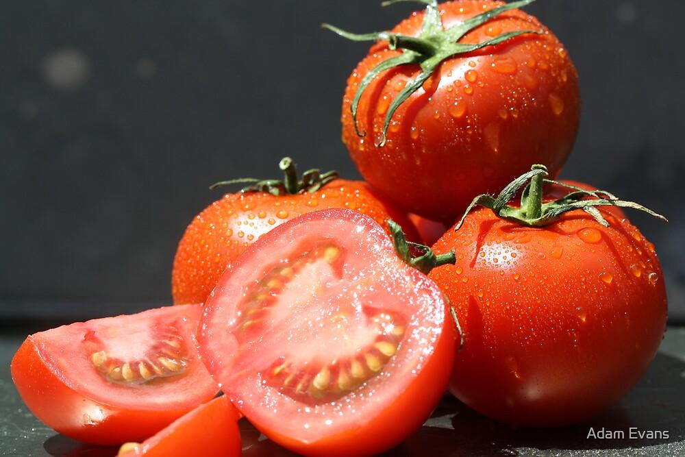Fresh Tomatoes by Adam Evans
