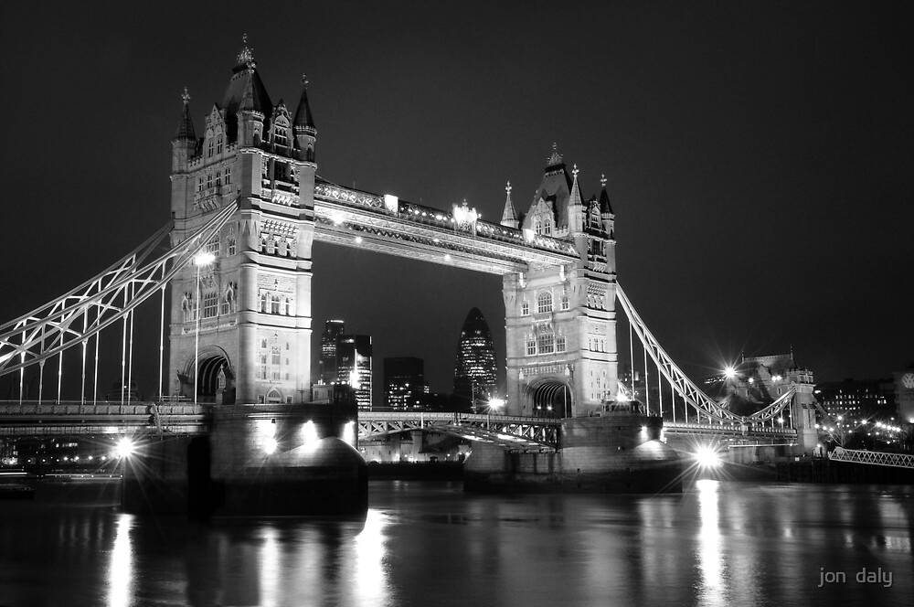 tower bridge bw by jon  daly