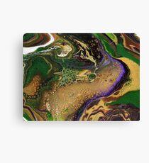 Fluid Green & Gold Canvas Print