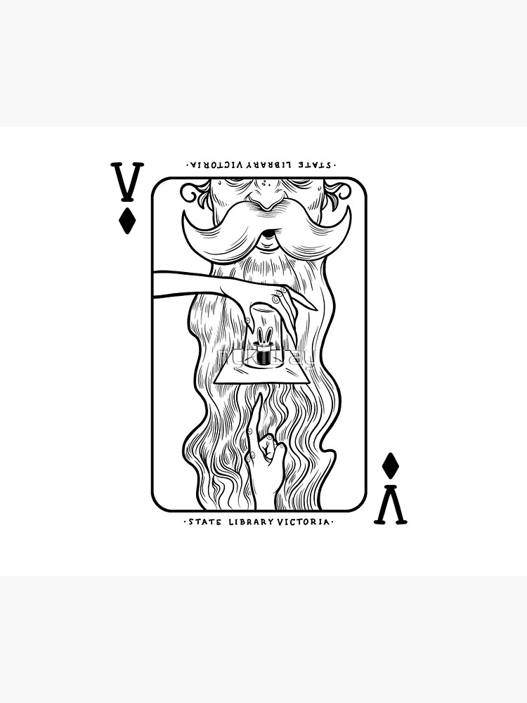 State Library Victoria Magic Playing Card by nykiway