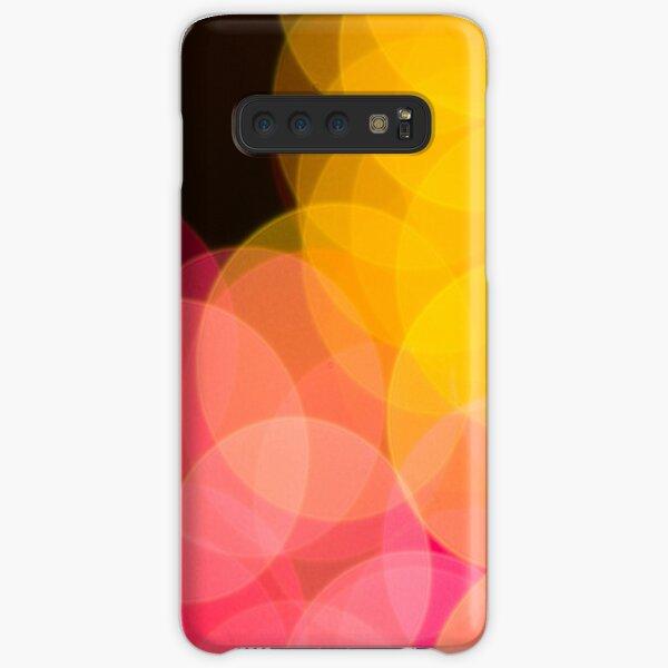 Bokeh abstract pink yellow circles Samsung Galaxy Snap Case
