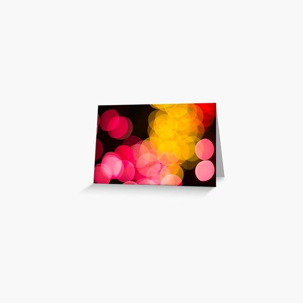 Bokeh abstract pink yellow circles Greeting Card