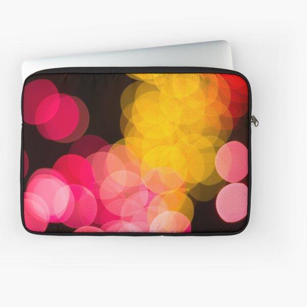 Bokeh abstract pink yellow circles Laptop Sleeve