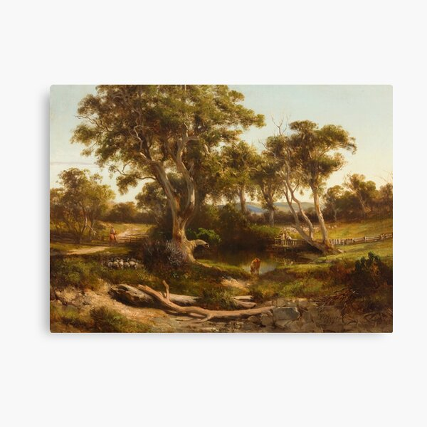 Sheep Wash in the Western District by Louis Buvelot Canvas Print