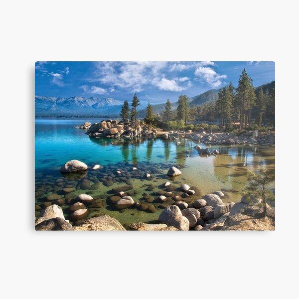 Sand harbor Morning - Lake Tahoe Metal Print