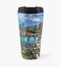Sand harbor Morning - Lake Tahoe Travel Mug