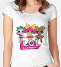 LOL Surprise Dolls Women's Fitted Scoop T-Shirt