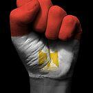 Flagge von Ägypten auf einer angehobenen geballten Faust von jeff bartels