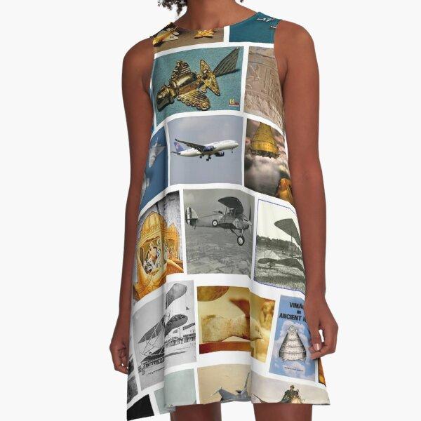Ancient Aeroplanes A-Line Dress