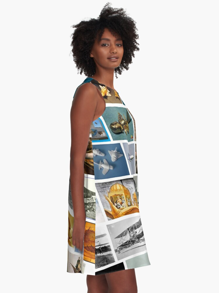 Alternate view of Ancient Aeroplanes A-Line Dress