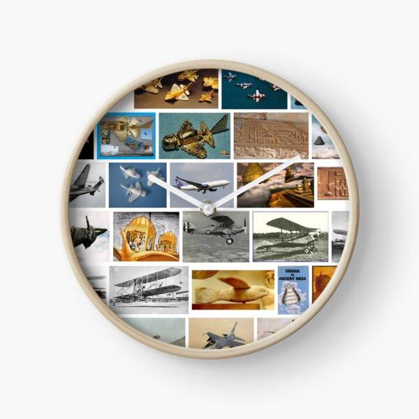Ancient Aeroplanes Clock