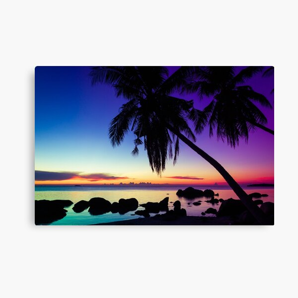 Fantasy sunset landscape Thailand Canvas Print