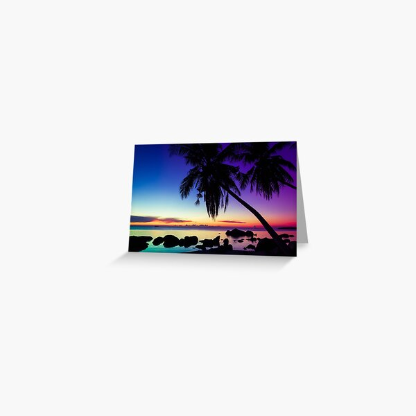 Fantasy sunset landscape Thailand Greeting Card