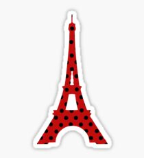 Maraculous Ladybug Eiffel Tower Sticker