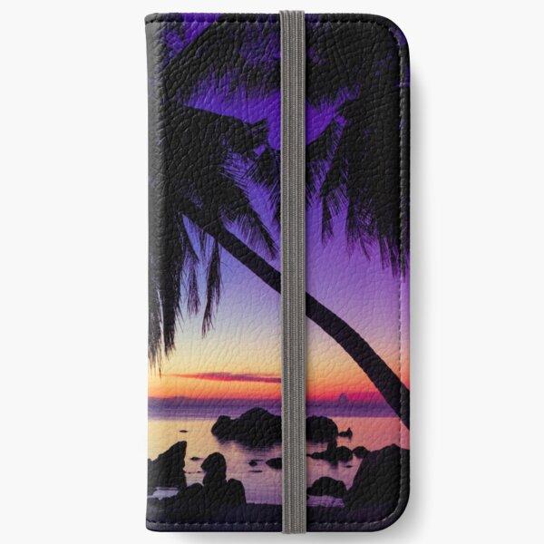 Fantasy sunset landscape Thailand iPhone Wallet