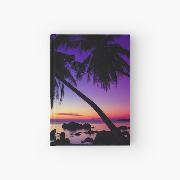 Fantasy sunset landscape Thailand Hardcover Journal