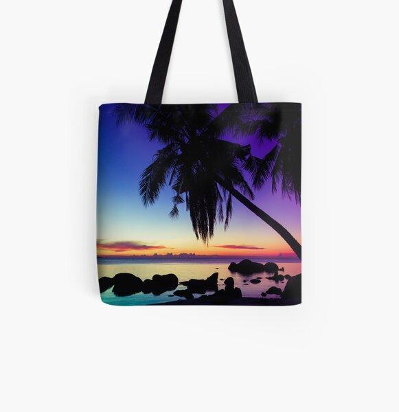 Fantasy sunset landscape Thailand All Over Print Tote Bag