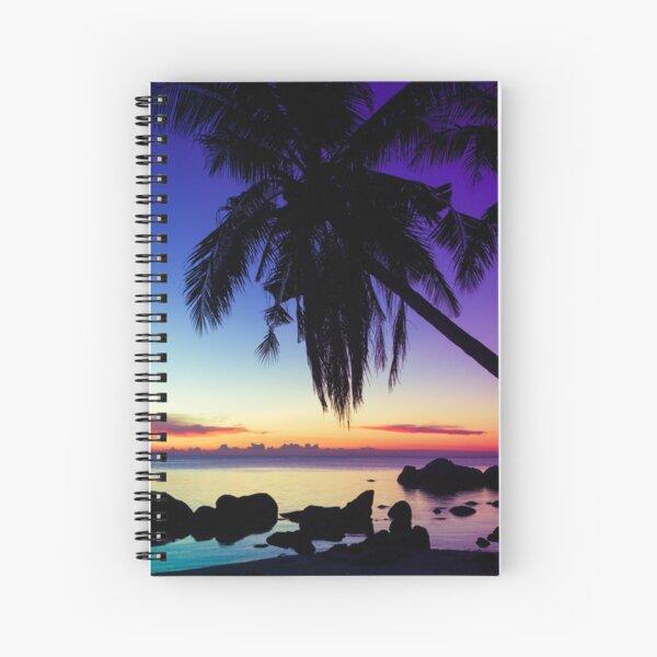 Fantasy sunset landscape Thailand Spiral Notebook