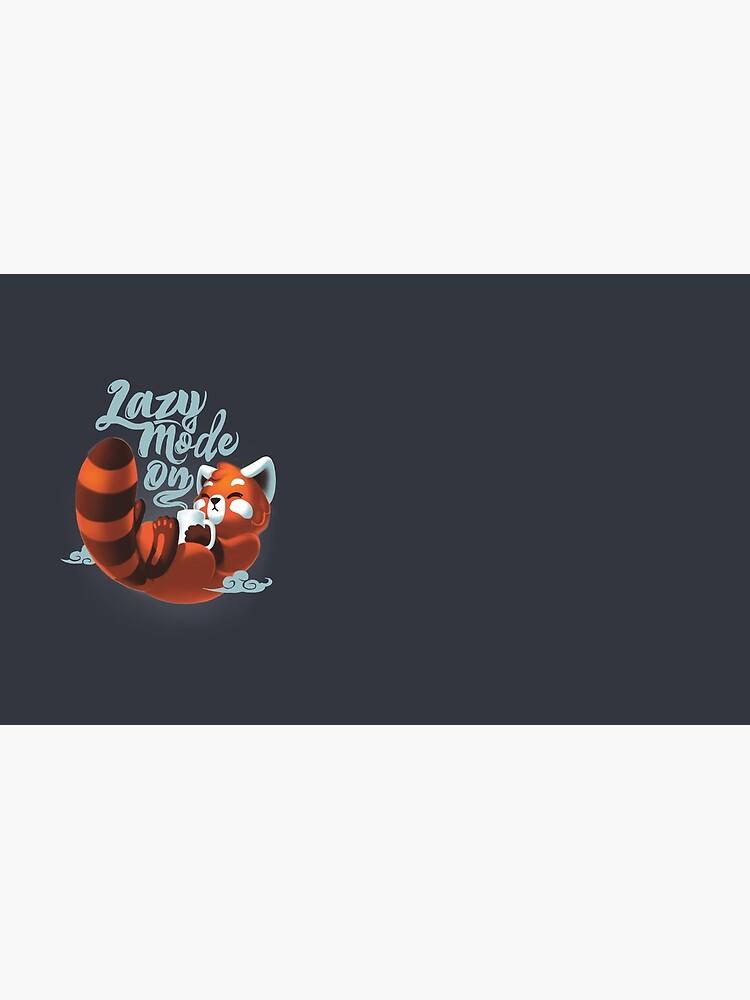 Lazy mode ON - Cute Red Panda - Fluffy Coffe Animal by BlancaVidal