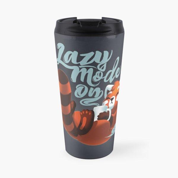 Lazy mode ON - Cute Red Panda - Fluffy Coffe Animal Travel Mug