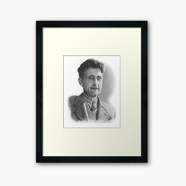 George Orwell pencil drawing Framed Art Print