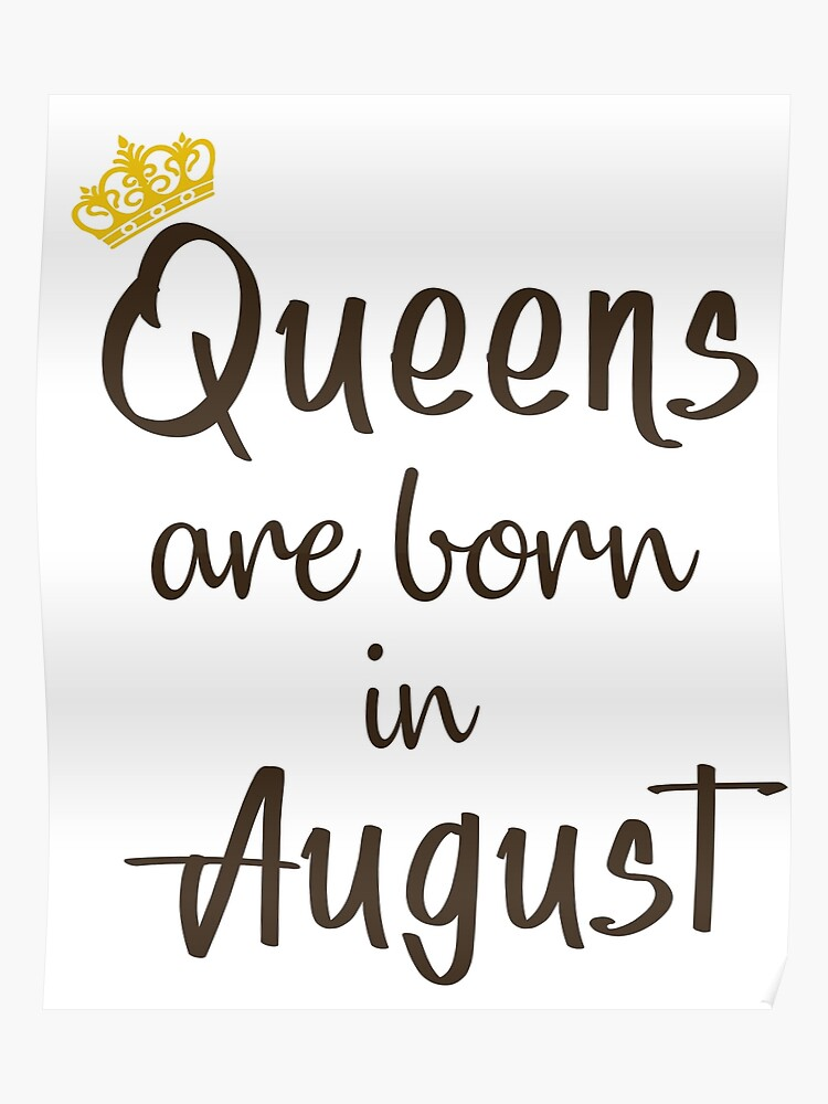 9a71538e8 Queens Are Born in August T-Shirt Birthday Shirt for Women born in August  Girl