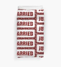 Just Married Duvet Cover