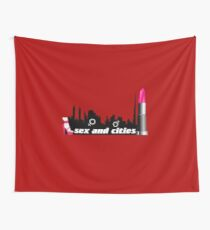 Sex and cities -  t shirt  - woman and man Wall Tapestry
