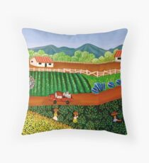 FINCA SAN. IGNACIO   (Nicaraguan Folk Art.) Throw Pillow