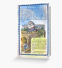 Alice in Wonderland and Humpty Dumpty Greeting Card