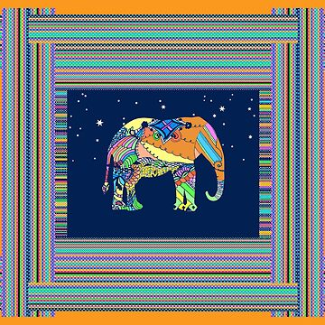 Elephant Woven Under the Stars by MelissaB