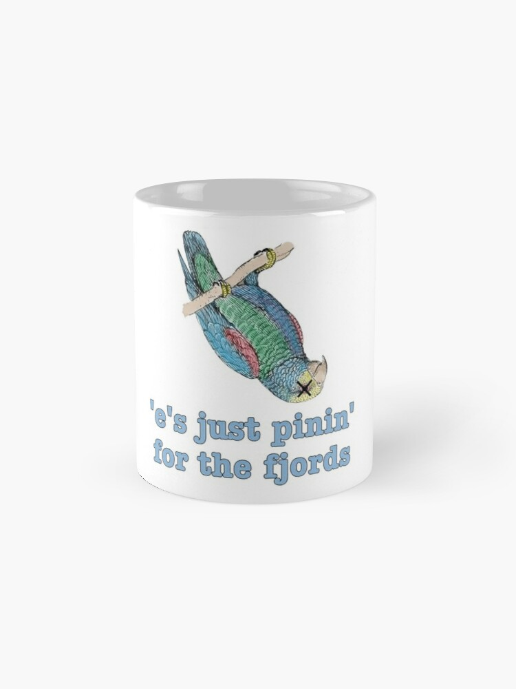Alternate view of Dead Parrot - Just Pinin' for the Fjords Mug