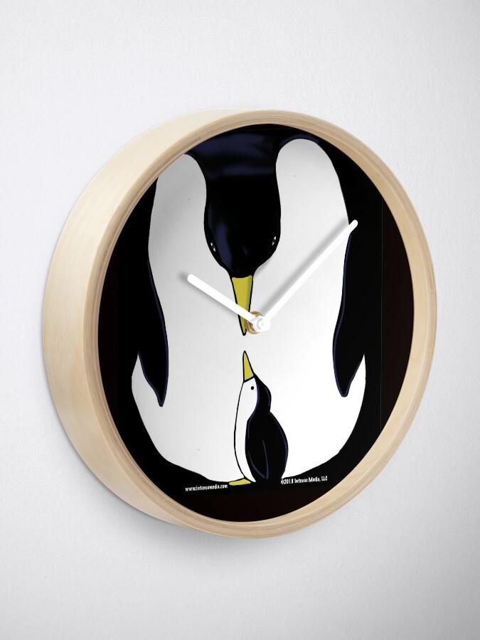 Alternate view of Penguin Love Clock