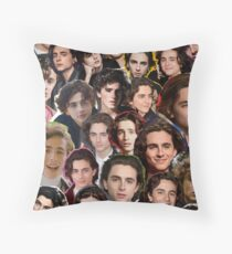 Timothee chalamet Collage Throw Pillow