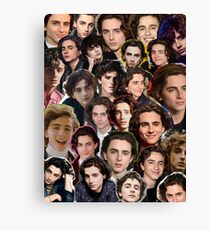 Timothee chalamet Collage Canvas Print