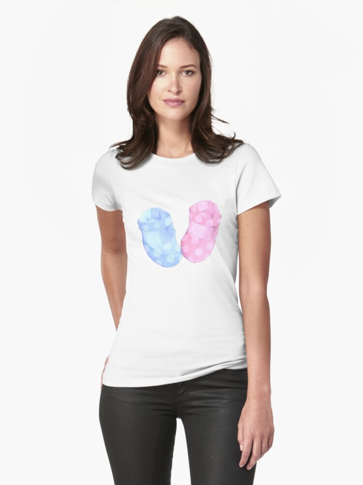 Baby Twins Booties T-shirt by Mariana Musa