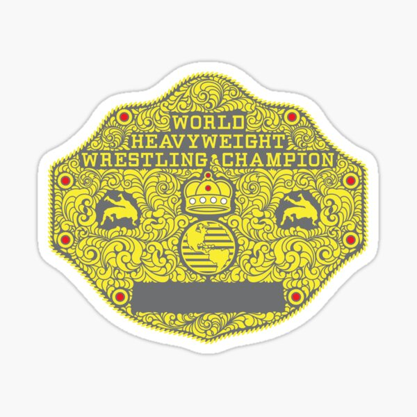 Big Gold Belt Main Plate Sticker