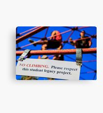 Entertaining Disobedience  Canvas Print