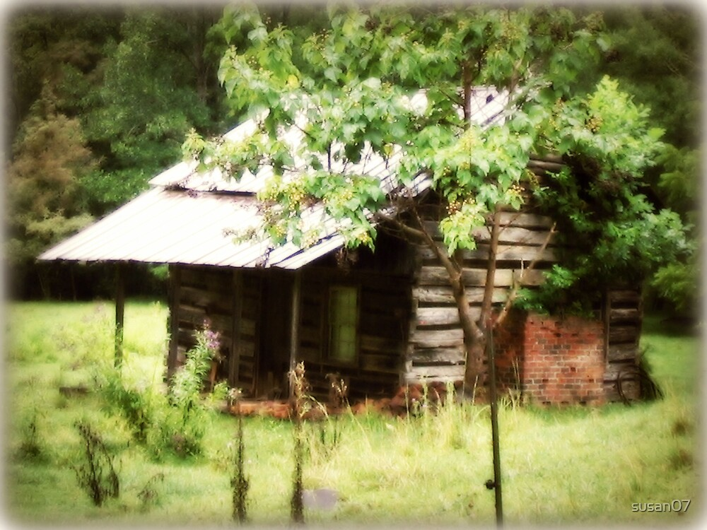 Old cabin Franklin, North Carolina by Susan  McDonald