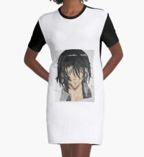 Anime Character Graphic T-Shirt Dress