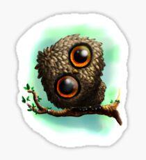Cute Owl on Branch Sticker