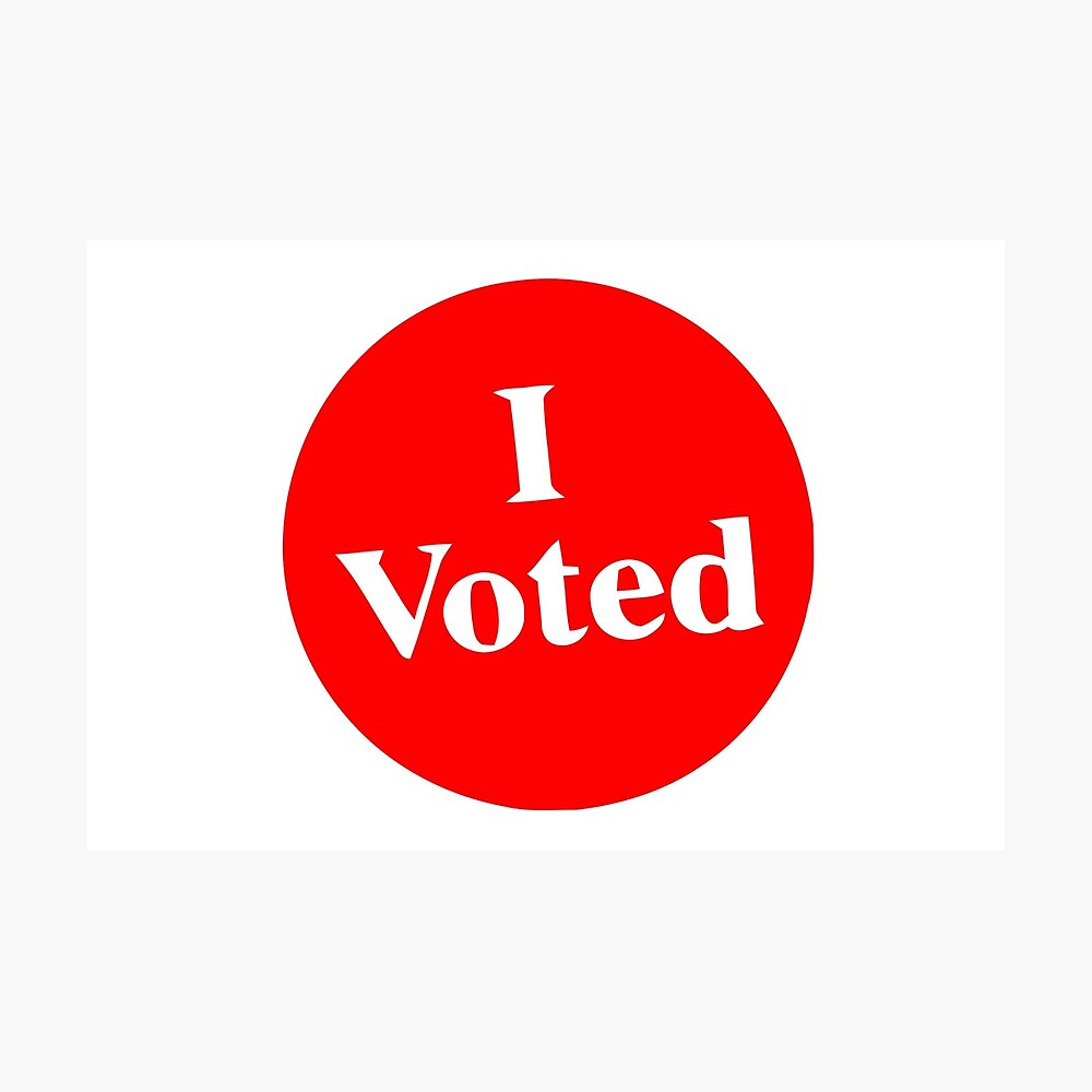 image relating to I Voted Stickers Printable known as I Voted Sticker Photographic Print