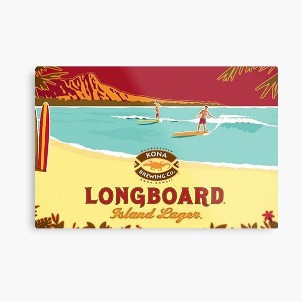 Kona Longboard Metal Print