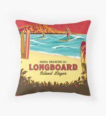 Kona Longboard Throw Pillow