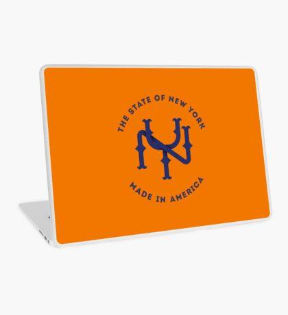 NY New York State Monogram Blue Laptop Skin