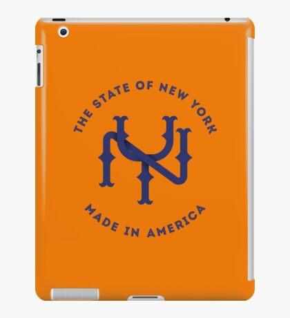 NY New York State Monogram Blue iPad Case/Skin